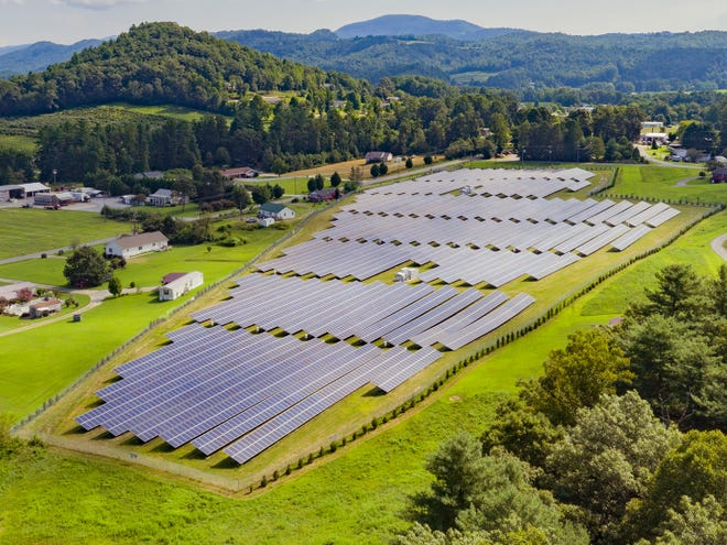 Cypress Creek Renewables plans to build a 2-megawatt solar facility in Marshall Township. The national solar company has built other facilities throughout the U.S. including this one in North Carolina.