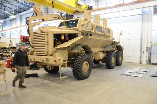 The Buffalo is a 33-ton vehicle used to search for explosives.