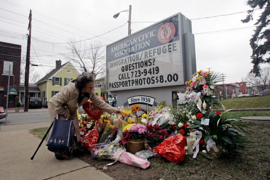 The American Civic Association became a place of remembrance in the days following the massacre on Front Street in Binghamton on April 3, 2009.
