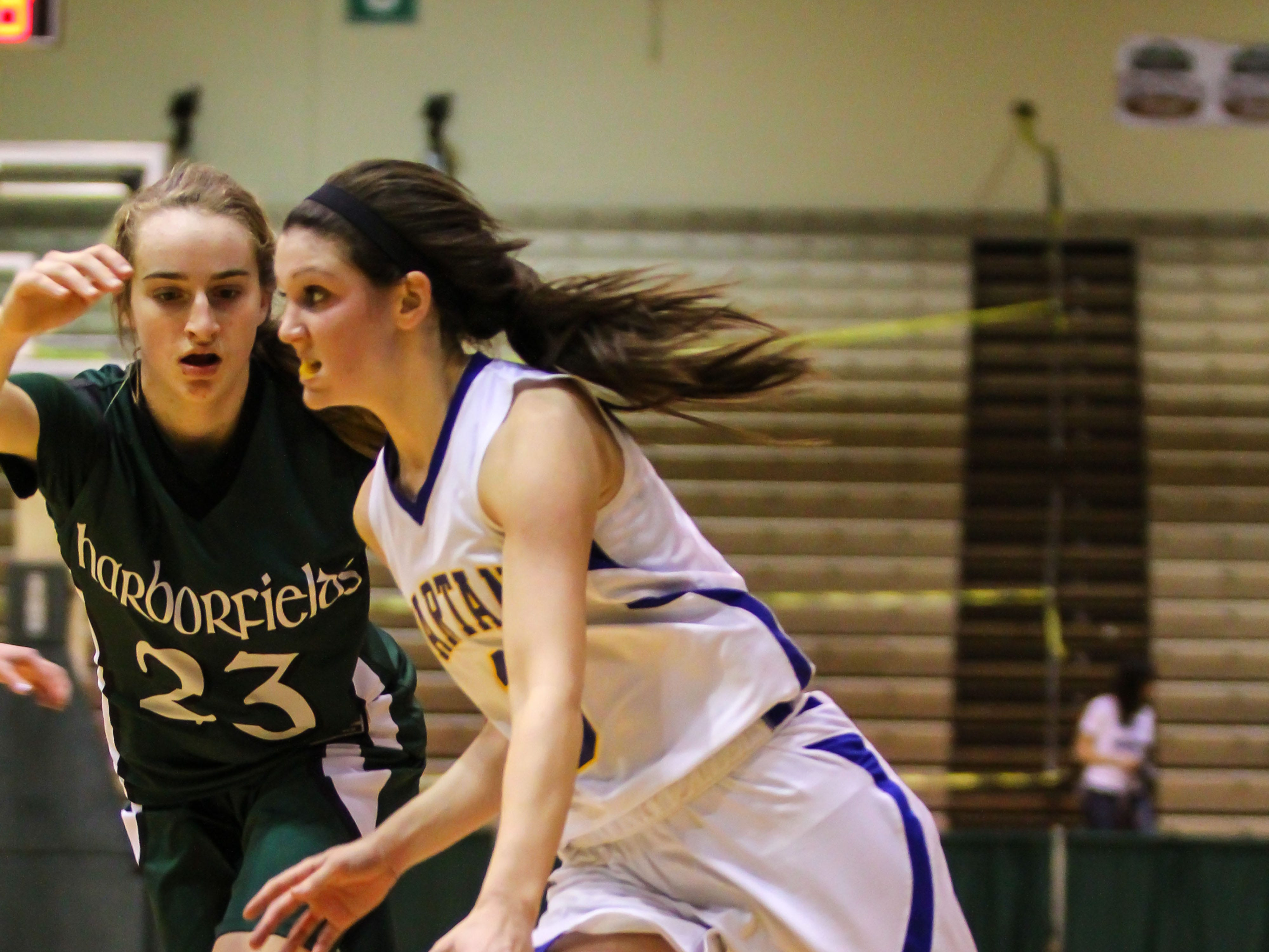2013: Victoria Dean drives to the basket during Maine-Endwell's 53-46 victory. Dean finished with 10 points.