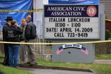 Here's how police responded to the area outside the American Civic Association on April 3, 2009.
