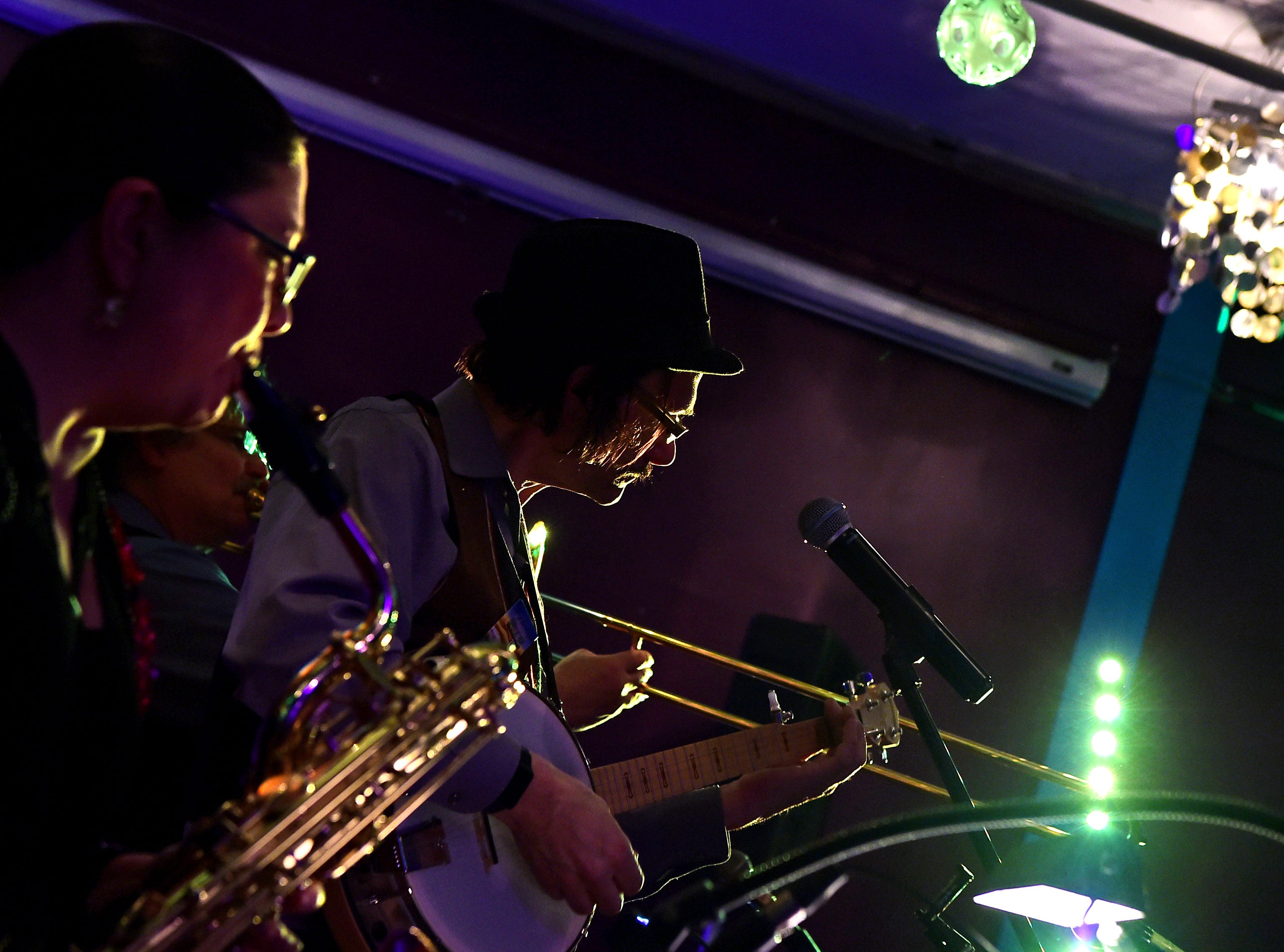 Basin Street Jazz Band entertains at the Lost Dog Cafe & Lounge in Binghamton during the 25th annual Rockin' Mardi Gras Celebration. March 5, 2019.