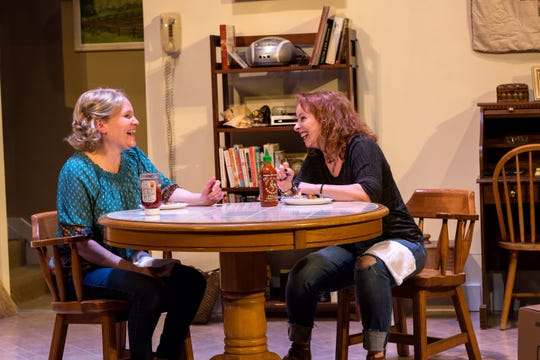 """Karen Lefkoe and Kathryn Blume star in """"The Roommate"""" at Vermont Stage."""