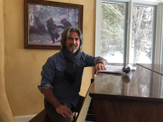 """The Highwaymen"" screenwriter John Fusco sits at the piano in his Morristown home on Feb. 12, 2019."