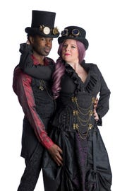 "Miranda McGee (R) as Tamora and Darnell Pierre Benjamin as Aaron in ""Titus Andronicus,"" one of the plays announced as part of Cincinnati Shakespeare Company's 2019-2020 season. The show will be performed Oct. 11-Nov. 2."