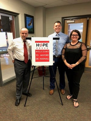 Milford is one of 55 school districts across Ohio that have active Hope Squads, which consist of students and advisors trained to watch for warning signs and provide support to students who may be in emotional distress.