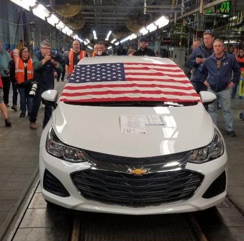 The final Chevrolet Cruze rolled off the line at Lordstown Assembly on Wednesday.