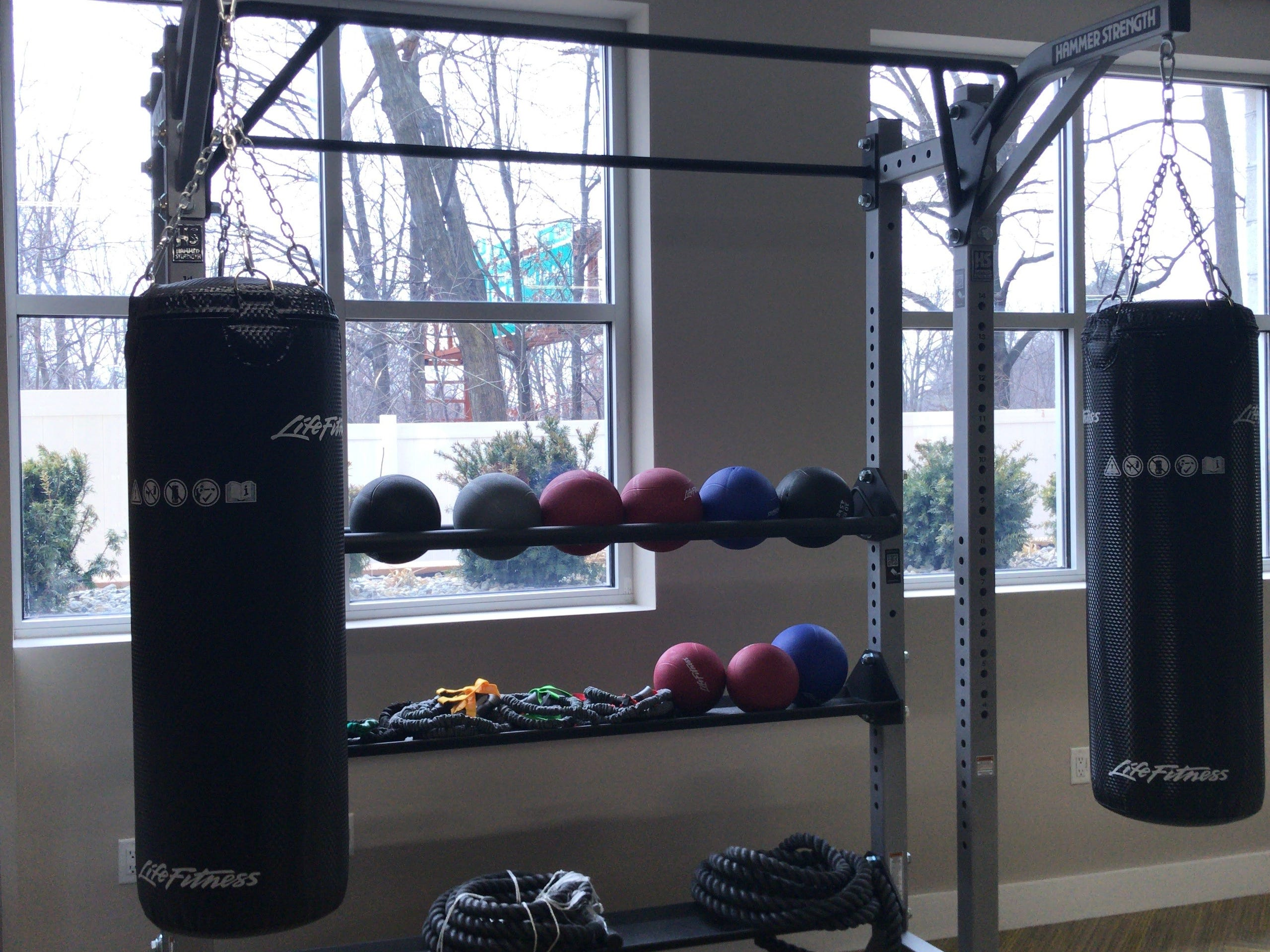 The well-equipped gym of the luxury apartments at The Grande at MetroPark is just one of many amenities. Units are available now, while others are being constructed.