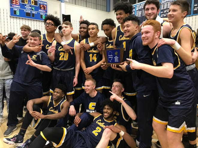 The fourth-seeded Colonia boys basketball team won its first North 2 Group III title since 2015 with a 57-33 win over No. 3 West Morris on Tuesday, March 5, 2019.