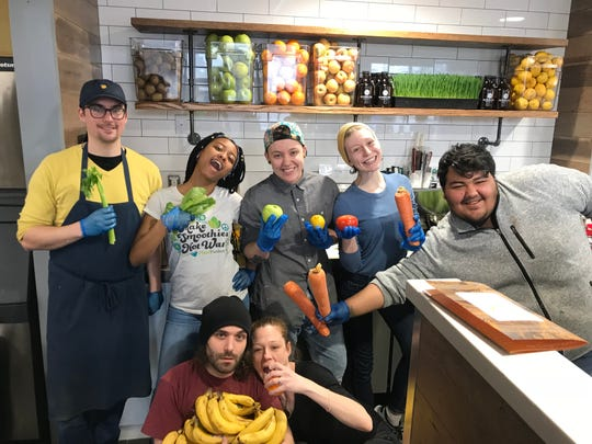 The team from Dean's Café posed during the eatery's grand opening in Metuchen on February 2nd