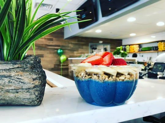 One of a range of organic acai and pitaya bowls available at Dean's Café in Metuchen