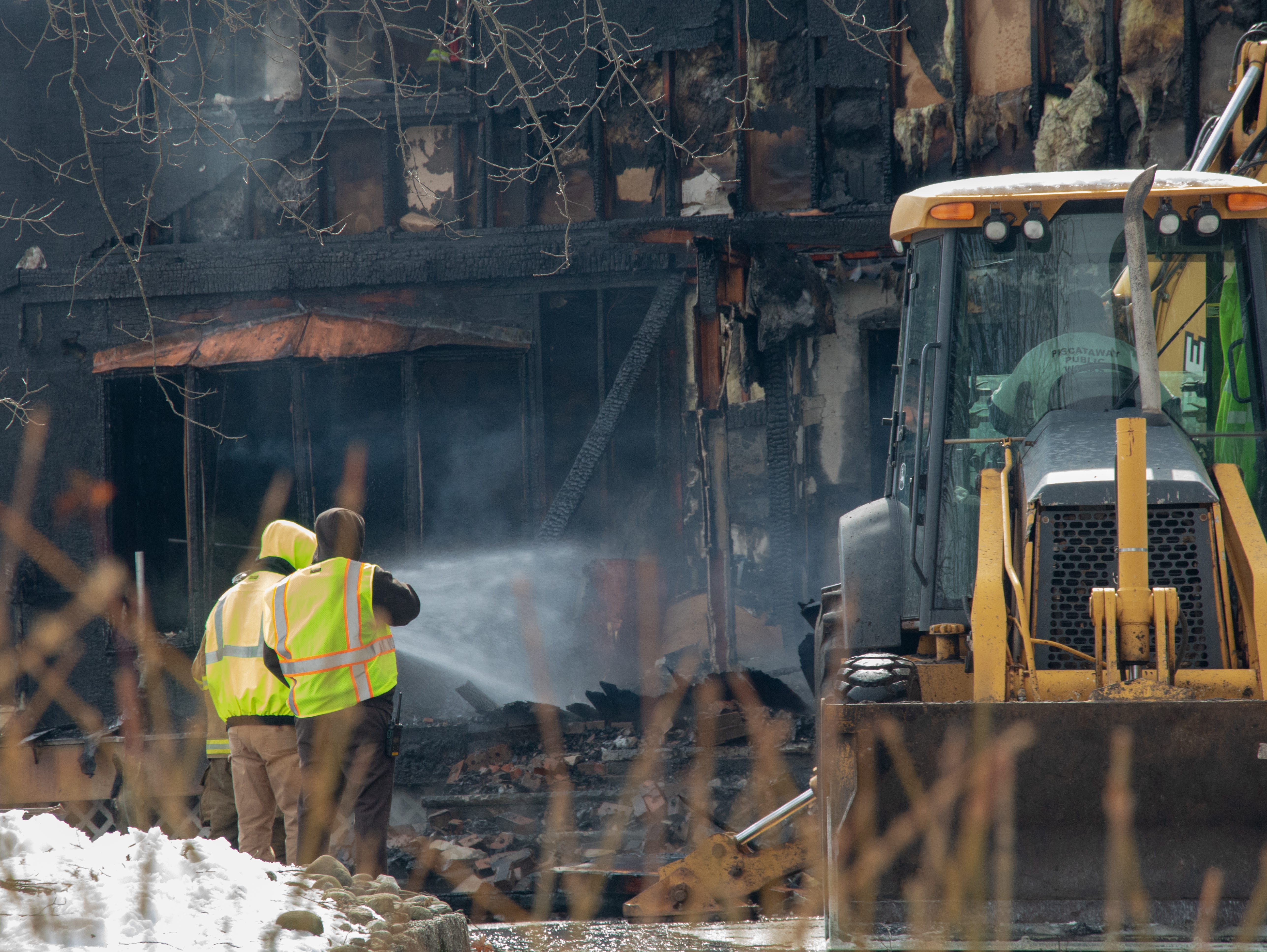 A Morris Lane home was heavily damaged in a three-alarm fire Wednesday morning a short time after the residents had left.