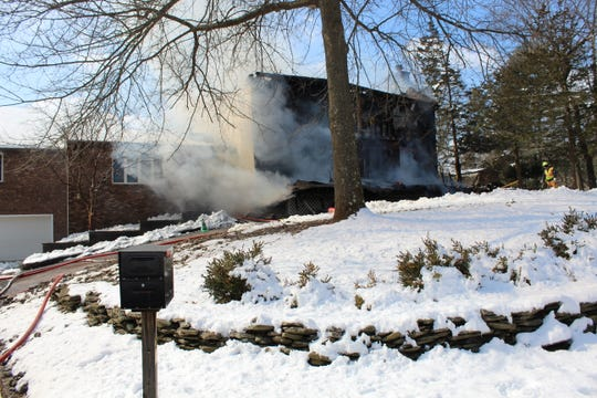 Piscataway firefighters responded to a three alarm fire Wednesday at a Morris Lane home.