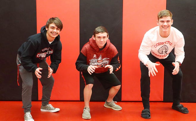 Coshocton High School wrestlers Austin Guthrie, Lucian Brink and Jackson Unger are heading to the state wrestling tournament this weekend.