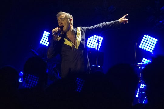 Morrissey performed at the Masonic Temple in Detroit on Wed., July 08, 2015.