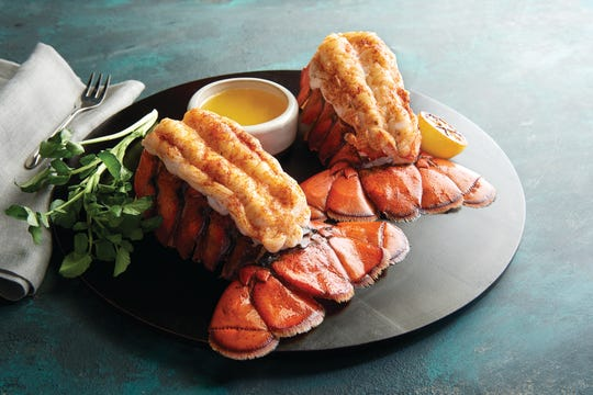 Twin lobster tails at Morton's.