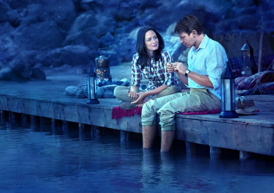 "Emily Blunt and Ewan McGregor appear in a scene from the motion picture ""Salmon Fishing in the Yemen."""
