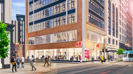 Rendering of planned H&M store