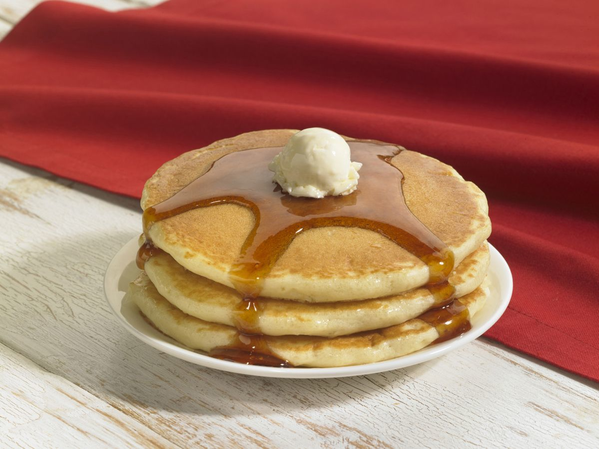 You can get a short stack of pancakes free at participating IHOP restaurants Tuesday. In return,  customers  are asked to donate to Children's Miracle Network hospitals.