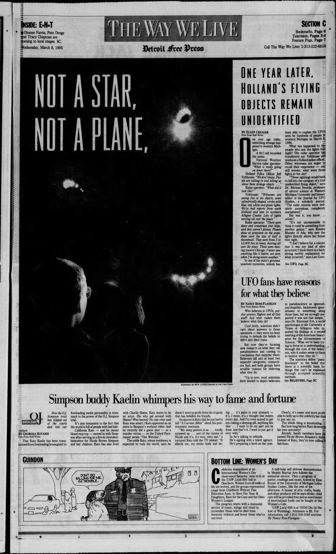 Gli avvistamenti UFO segnalati sono stati i più importanti dal marzo 1966, Bill Konkolesky, direttore dello stato del Michigan di MUFON