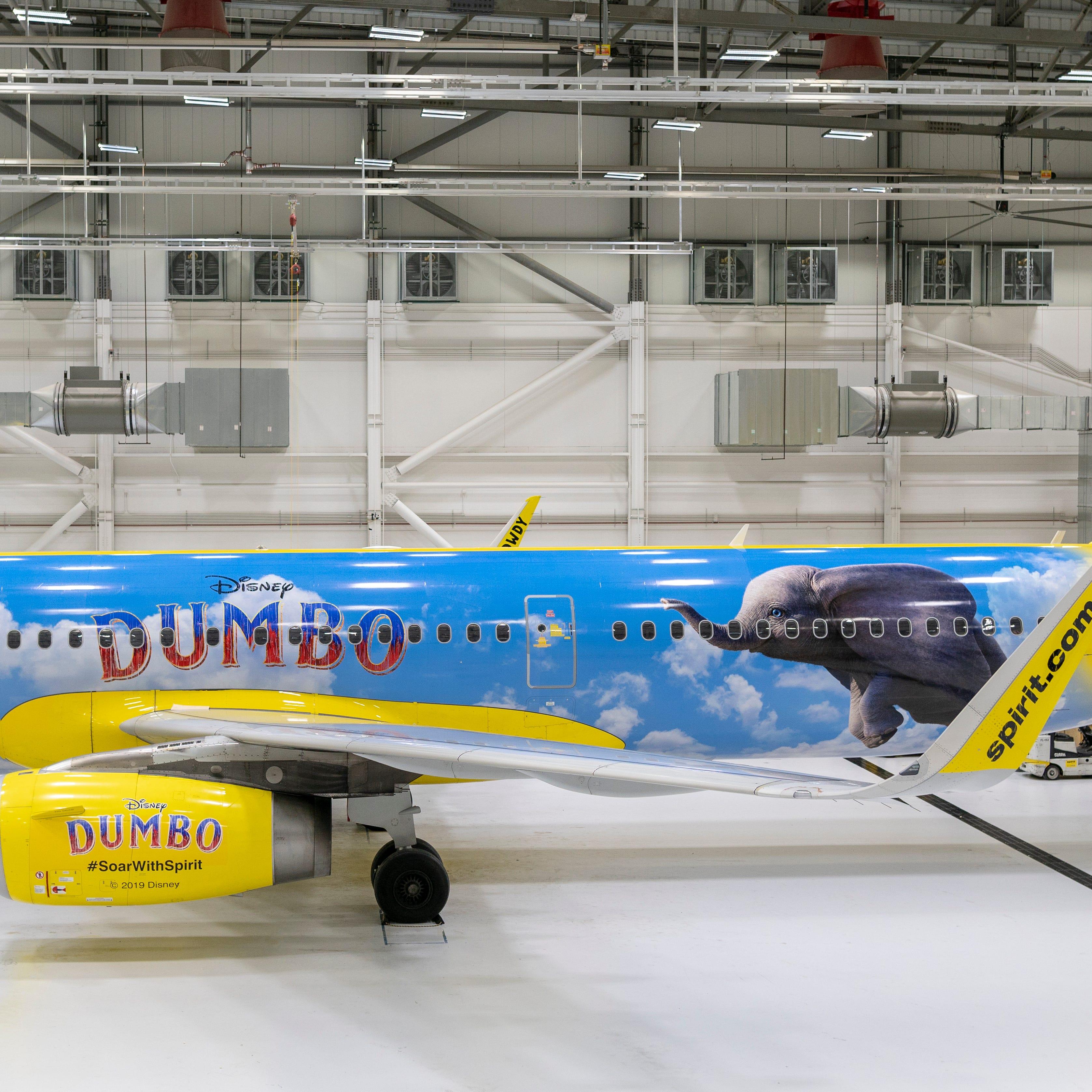Spirit unveils new 'Dumbo' airplane at Detroit Metro Airport