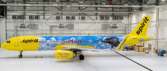 "Spirit Airline's new ""Dumbo"" themed airplane. Photography by Christian Lockerman © 2019 Spirit Airlines"