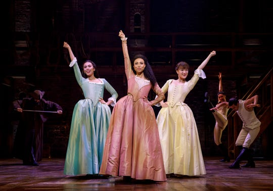 """The Schuyler sisters from """"Hamilton,"""" two of whom are love interests for the protagonist."""