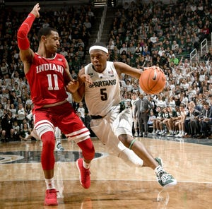 Michigan State point guard Cassius Winston is a semifinalist for the Naismith Trophy, awarded to the county's top player.
