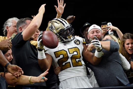 Running back Mark Ingram, a Flint product, has averaged 4.5 yards per carry in his career.