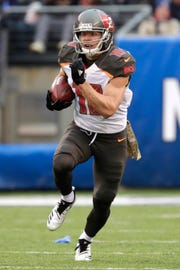 Receiver Adam Humphries caught 76 passes for 816 yards and five scores last season for the Tampa Bay Buccaneers, working mostly out of the slot.