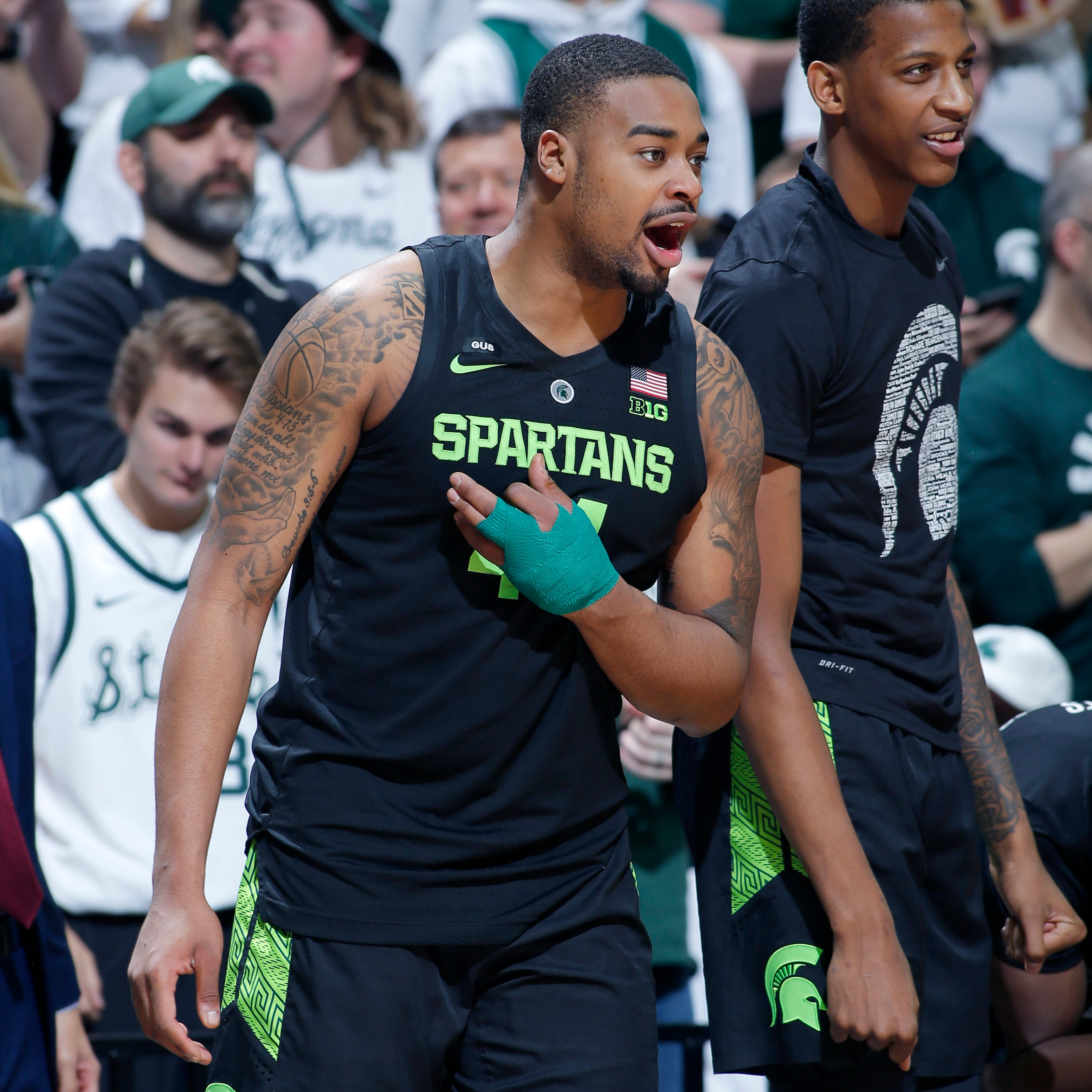 Michigan State's Nick Ward has 'million-to-one' chance of playing against Michigan