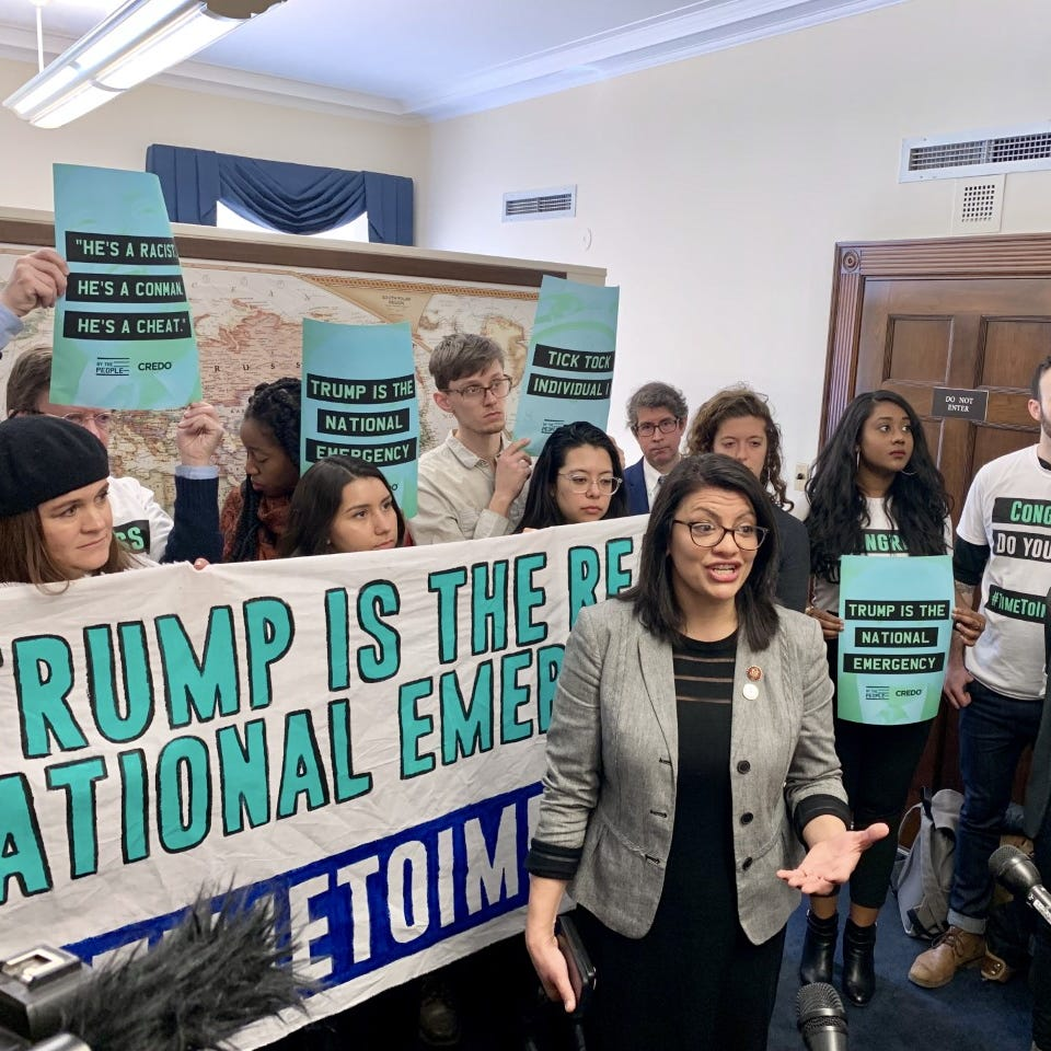 Tlaib introduces resolution backing impeachment of Trump