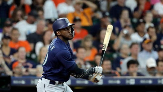 Cameron Maybin, here with the Mariners last season, was arrested on suspicion of driving under the influence.