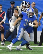 Lions running back Zach Zenner averaged 4.8 yards per carry in 55 attempts last season.