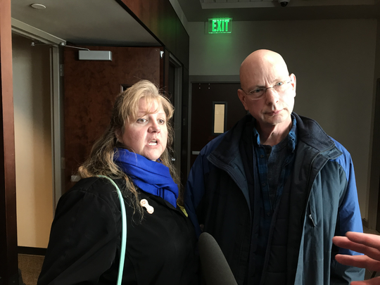 Danielle Stislicki's parents Ann and Richard outside the courtroom saying Galloway was never more than a work acquaintance with their daughter.