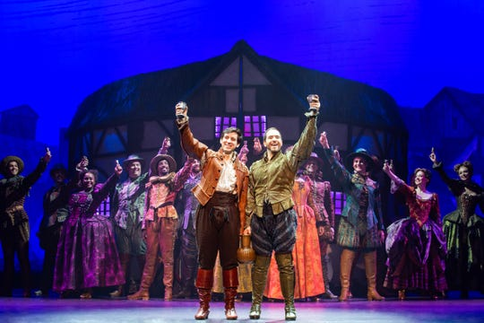 "Richard Spitaletta and Matthew Janisse star in the tour of ""Something Rotten"" as brothers Nigel and Nick Bottom, respectively."