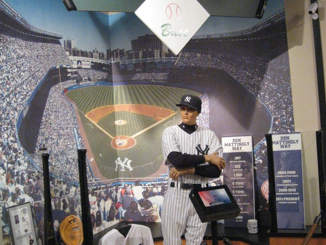Don Mattingly-related items on display at the Indiana Baseball Hall of Fame.
