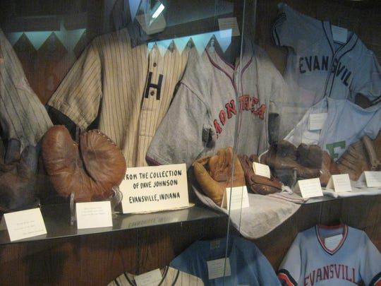 Items on display at the Indiana Baseball Hall of Fame.