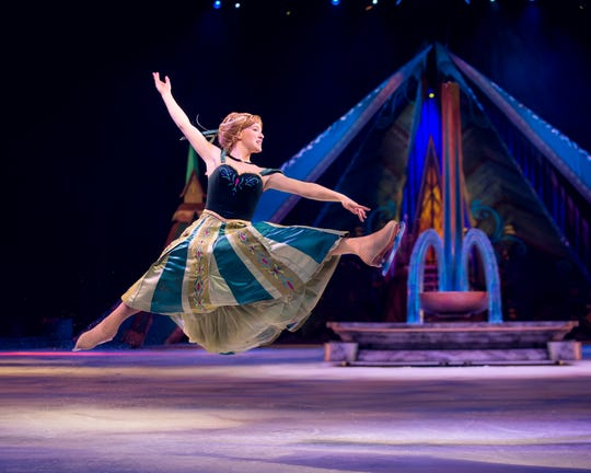 """Anna in """"Disney on Ice presents Frozen."""" The role is now played by Morgan Bell (not pictured)."""