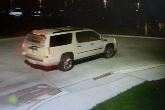 Information on this white Cadillac seen in the area of a fatal hit-and-run crash on Feb. 24 is being sought by the Florida Highway Patrol.