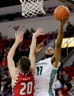 UWGB senior guard JayQuan McCloud scored a career-high 32 points against Northern Illinois on Saturday.