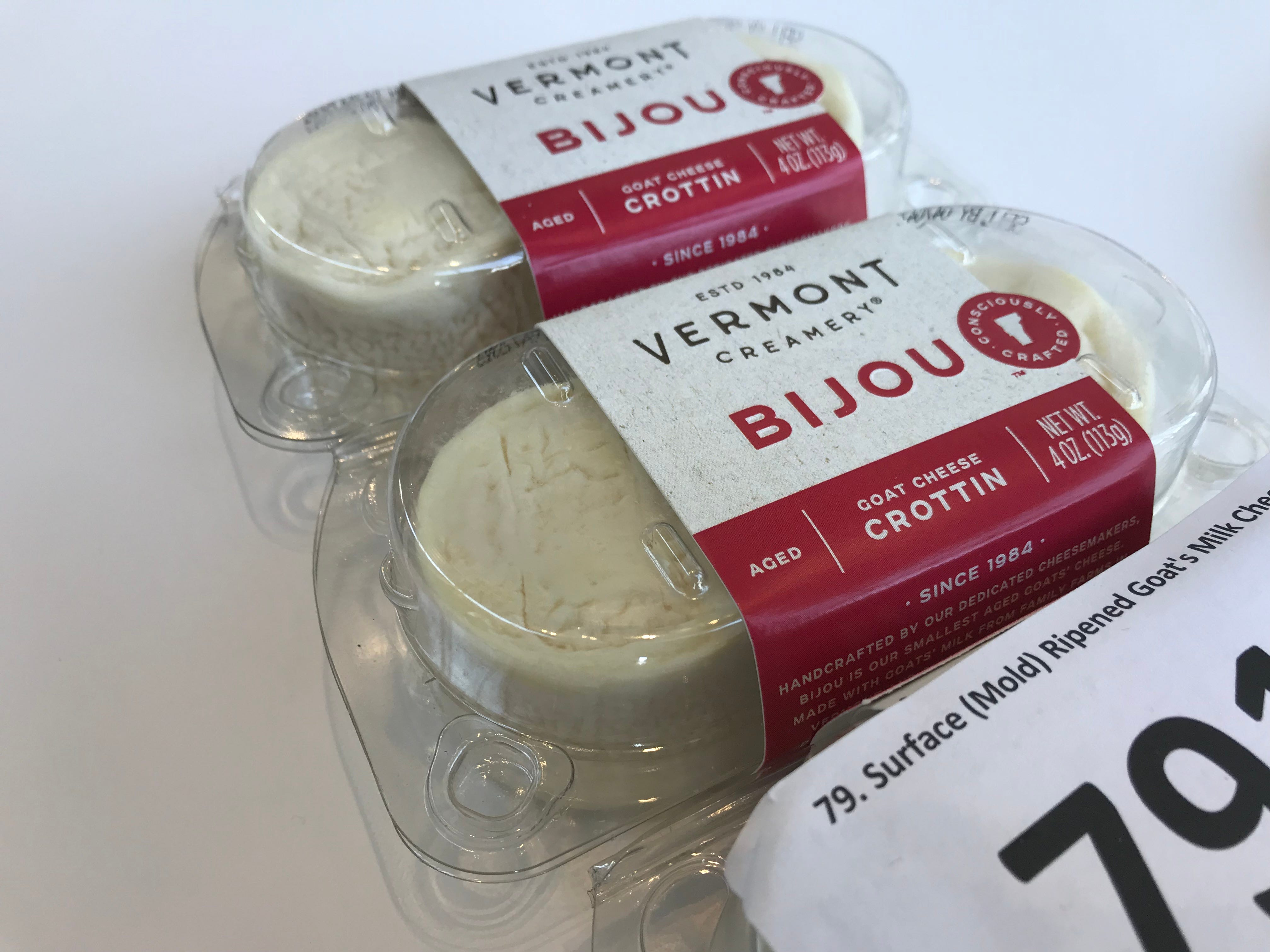 Bijou, Vermont Creamery, Vermont is a 2019 U.S. Championship Cheese Contest finalist.