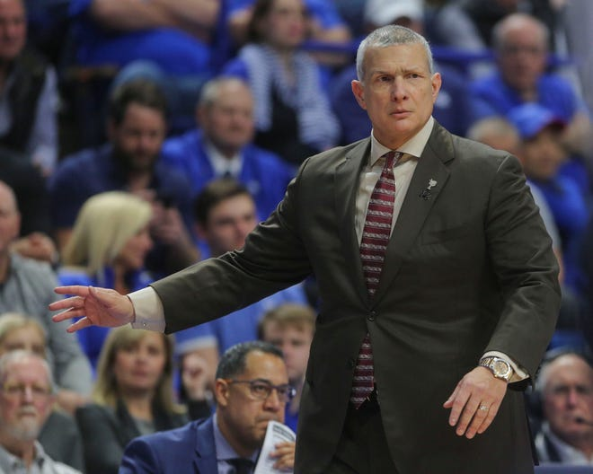 South Carolina coach Frank Martin and the Gamecocks ended a three game losing streak with a victory over Texas A&M Tuesday night.
