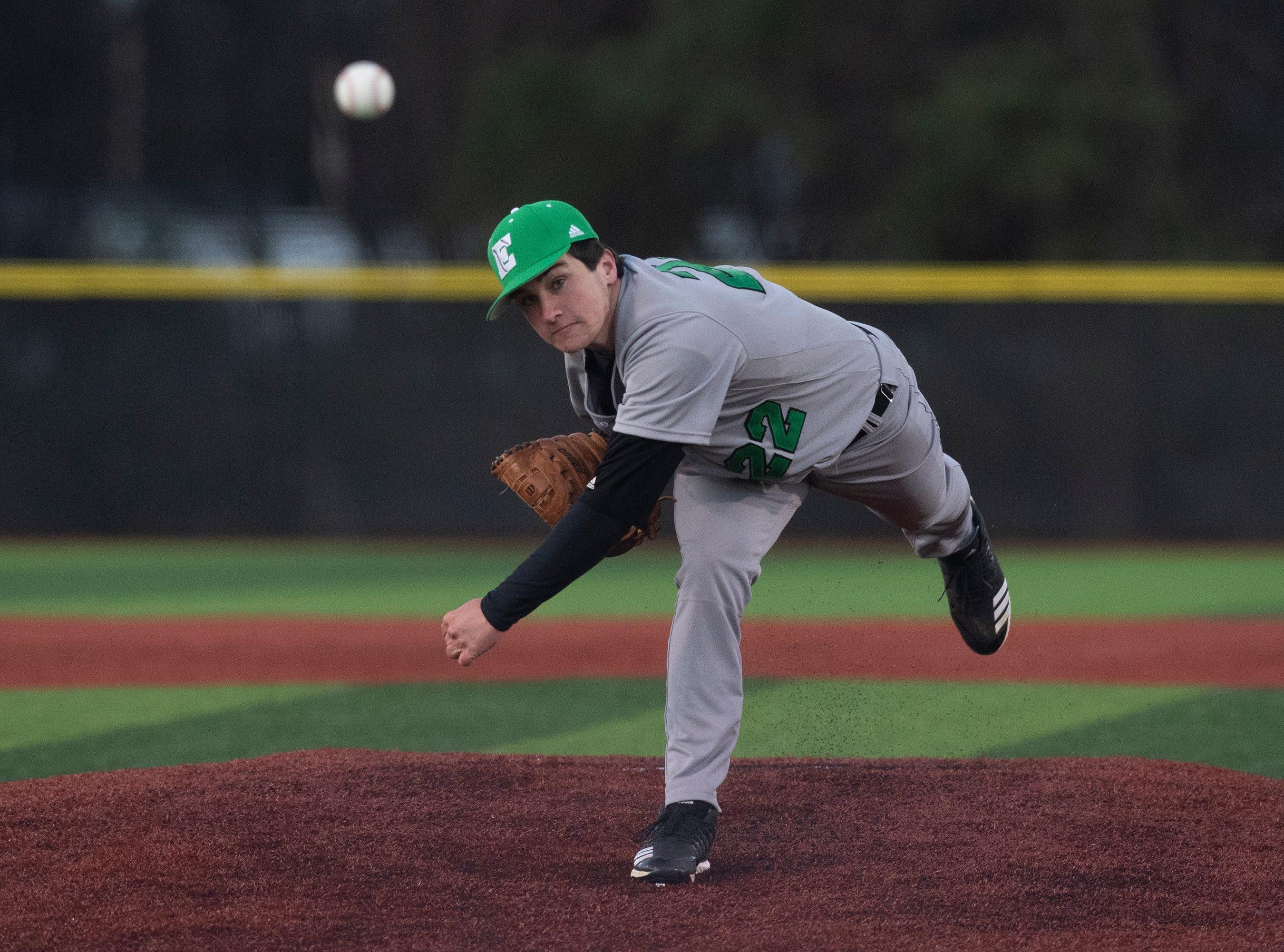 Easley High School's Devyn Bond (22) pitches against Westside High School at Westside High School Tuesday, Mar. 5, 2019.