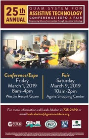 The Guam System for Assistive Technology Fair is scheduled for Saturday, March 9, at the Agaña Shopping Center.