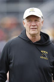 Reese Morgan, shown in this 2013 photo, spent the past 19 years as an assistant coach with Iowa. His connections around the state are legendary.