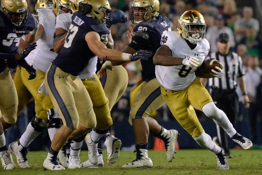 Jafar Armstrong figures to get a crack at the Irish's starting running back spot.