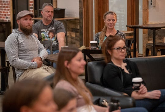 An all-ages comedy open microphone at Brickyard Coffee Company in Greenwood, Wednesday, October 10, 2018. The open microphone isn't running anymore, but the coffee shop, on the site of the old Jonathan Byrd's Cafeteria, is still open and hosts comedy events.