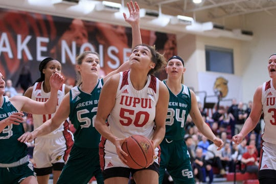Macee Williams of IUPUI was voted women's Horizon League Player of the Year.