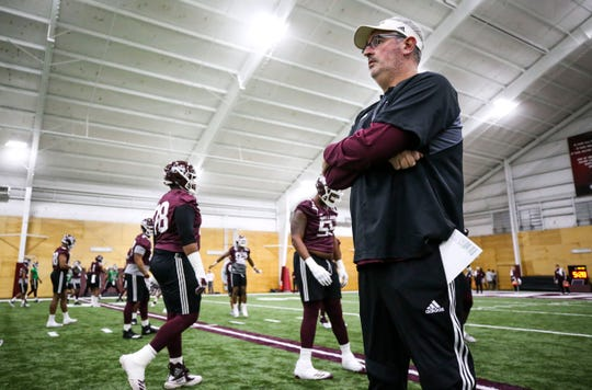 Mississippi State head coach Joe Moorhead has his sights set on the 2019 season. The Bulldogs began spring practices on Tuesday.